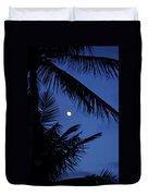 Blue Dawn Moon Duvet Cover