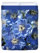 Blue Delphinium 9656 Duvet Cover