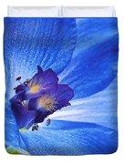Blue Delphinium Duvet Cover