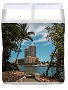 Blue Diamond Condos Miami Beach Duvet Cover