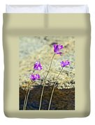 Blue Dicks Sway In A Breeze By Lower Palm Canyon Trail In Indian Canyons Near Palm Springs-california Duvet Cover