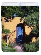 Blue Door At Old Mesilla Duvet Cover