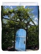 Blue Door To Childrens Garden Huntington Library Duvet Cover