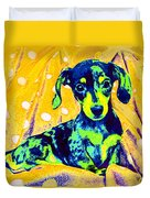 Blue Doxie Duvet Cover