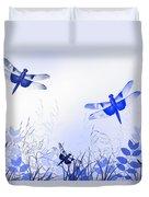 Blue Dragonfly Art Duvet Cover