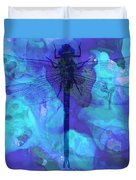 Blue Dragonfly By Sharon Cummings Duvet Cover by Sharon Cummings