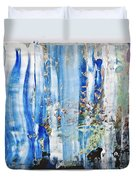 Blue Earth Abstract Duvet Cover