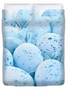 Blue Easter Eggs Duvet Cover