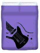 Blue Electric Guitar Duvet Cover