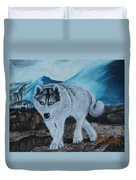 Blue Eyed Husky Duvet Cover