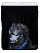 Blue Eyed Lab Smiling For The Camera Duvet Cover