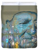 Blue Eyes Cryin' Duvet Cover