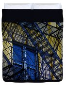 Blue Fire Escape Duvet Cover