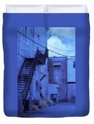 Blue Fire Escape Usa Near Infrared Duvet Cover