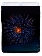 Blue Firework Flower Duvet Cover by Robert Bales