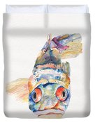 Blue Fish   Duvet Cover