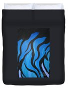 Blue Flames Of Healing Duvet Cover