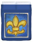 Blue Fleur De Lis Duvet Cover