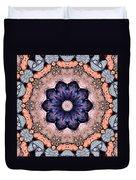 Blue Flora Mandala Duvet Cover