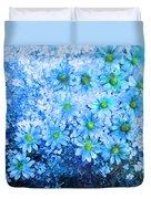 Blue Floral Fantasy Duvet Cover