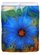 Blue Flower Dressed For Summer Duvet Cover by Karin Kuhlmann