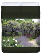 Blue Flowergarden With Wisteria Duvet Cover