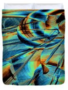 Blue Flowpaper Solarized Duvet Cover