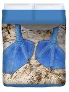 Blue-footed Booby Feet  Duvet Cover