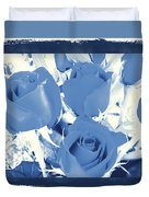 Blue For You Roses Duvet Cover