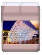 Blue Fountain At Night Duvet Cover