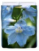 Blue Fragil Duvet Cover