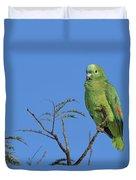 Blue-fronted Parrot Emas National Park Duvet Cover