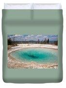 Blue Funnel Spring In West Thumb Geyser Basin Duvet Cover