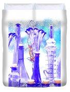 Blue Glass And Gecko Duvet Cover