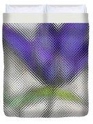 Blue Glass Flower Duvet Cover