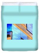 Blue Glass Reflections 4999 Duvet Cover