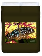 Blue Glassy Tiger Butterfly Duvet Cover