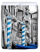 Blue Gondolas Duvet Cover