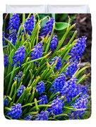 Blue Grape Hyacinth Duvet Cover