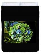 Blue Green Hydrangea Duvet Cover