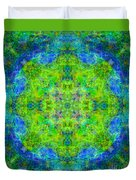 Blue Green Mandala Duvet Cover