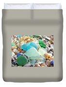 Blue Green Sea Glass Coastal Art Duvet Cover