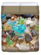 Blue Green Seaglass Coastal Beach Baslee Troutman Duvet Cover by Baslee Troutman