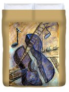 Blue Guitar - About Pablo Picasso Duvet Cover