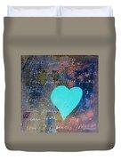 Blue Heart  Duvet Cover
