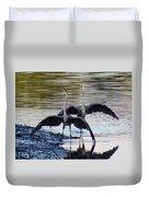 Great Blue Heron Ballet Duvet Cover