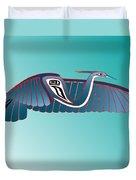 Blue Heron Flight Duvet Cover