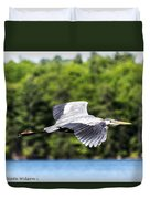 Blue Heron In Flight II Duvet Cover