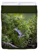 Blue Heron Journey I Duvet Cover