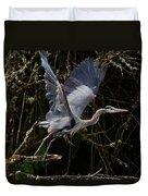Blue Heron Lift Off Duvet Cover